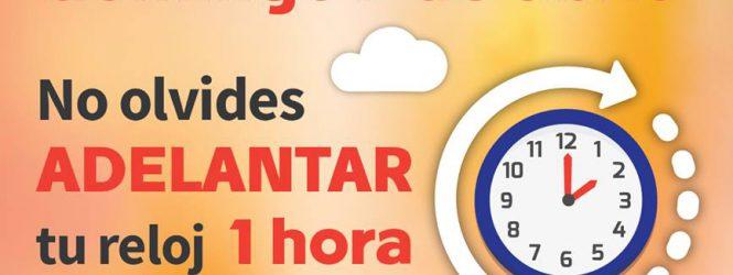 Cambio de Horario de Verano!!! No lo olvides!